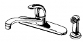 B&K Sink Faucet W/Spray