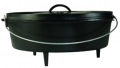 12Qt Cast Iron Camp Oven W/Lid