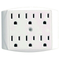 6-Outlet White Power Tap