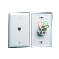Ivory Flush Mount Wall Jack