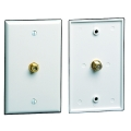 Coax Cable Wall Plate Ivory