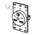 30A 250V Flush Pwr Receptacle
