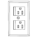 Safety Recept Wall Plate Ivory