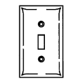 Nylon Switch Plate Ivory