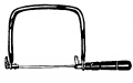 "4-3/4"" G-Neck Coping Saw Frame"