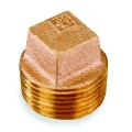 1/8 Brass Sq Hd Plug
