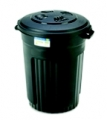 32Gal Plastic Trash Can W/Lid