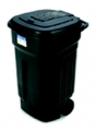 35Gal Plastic Trash Can W/Whls
