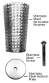 1-1/4 SS Perf Strainer W/P&S