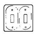 Ceramic Dbl Switch Plate White