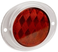 Red Alum Round Reflector